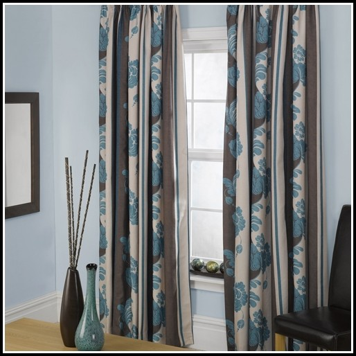 Duck Egg Blue And Beige Curtains