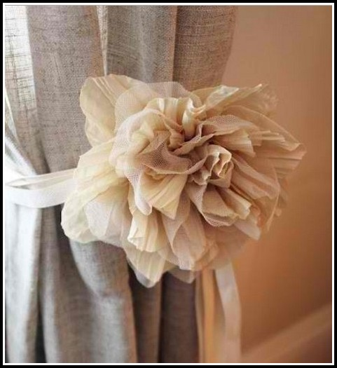 Flower Curtain Tie Backs Diy