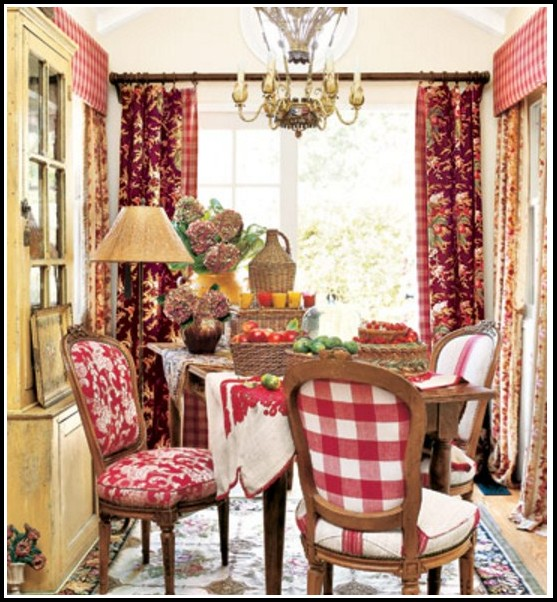 French Country Kitchen Cafe Curtains