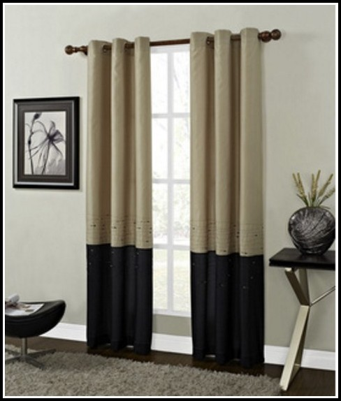 Gold And Black Damask Curtains