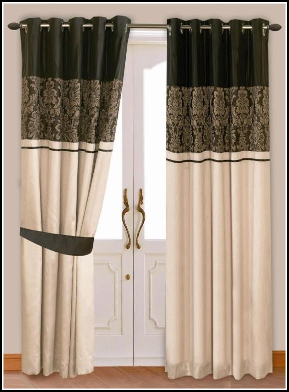 Gold And Black Striped Curtains