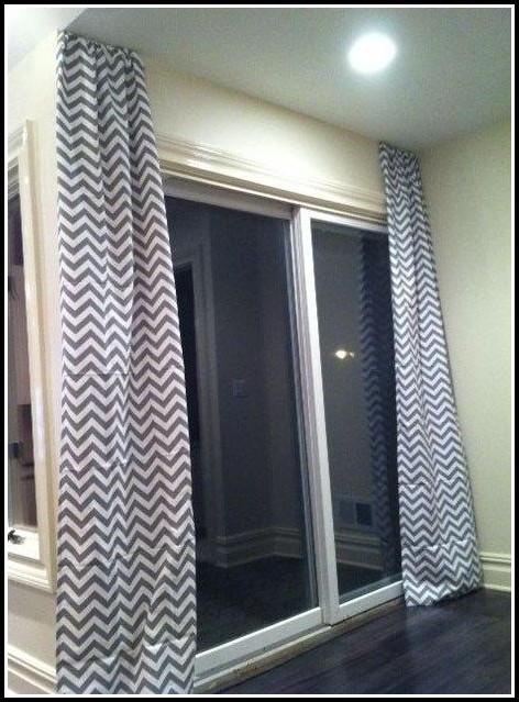 Gray And White Striped Curtain Panels
