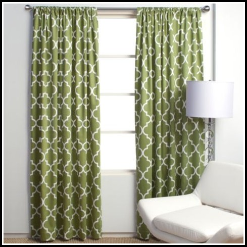 Green And Gray Curtains