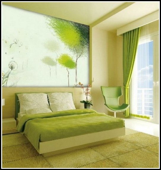 Green Curtains Master Bedroom
