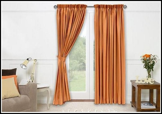 Grey And Burnt Orange Curtains