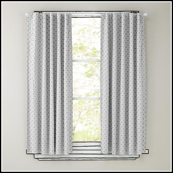 Grey And White Curtain Panels