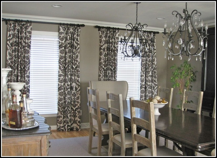 Grey And White Striped Curtain Panels