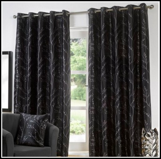 Grey White And Black Curtains