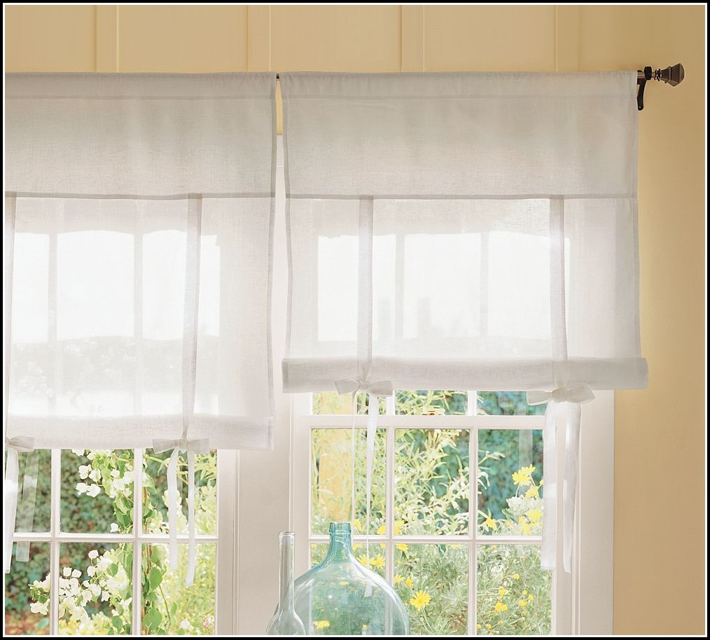 How To Make Tie Up Shade Curtains