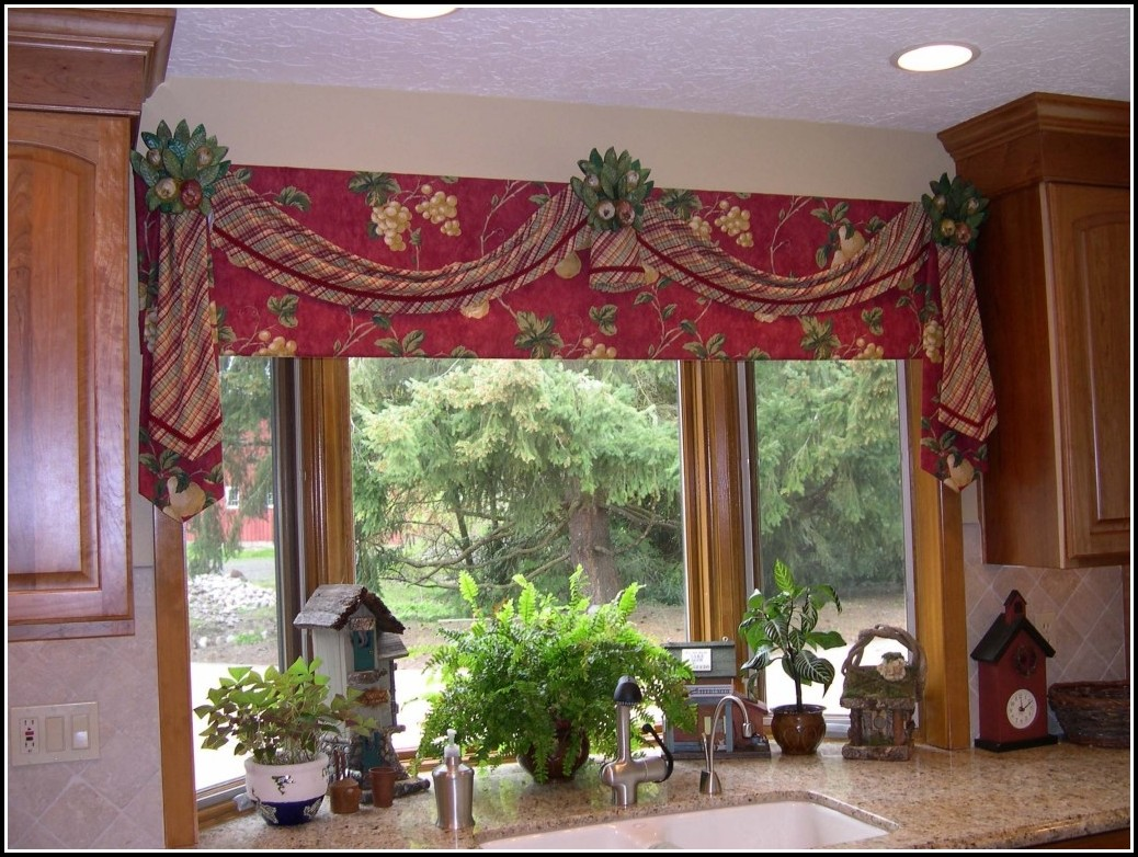 Kitchen Curtains And Valances Red