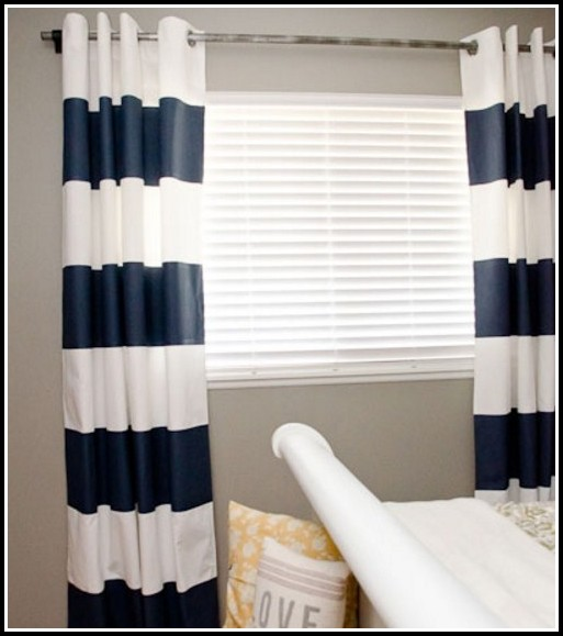 Navy And White Striped Curtains Target