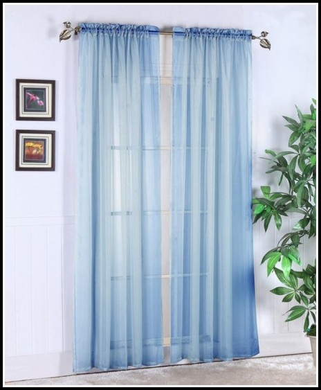 Navy Blue And White Curtain Panels