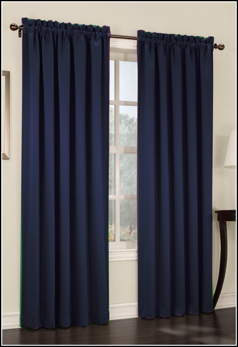 Navy Blue Velvet Curtain Panels