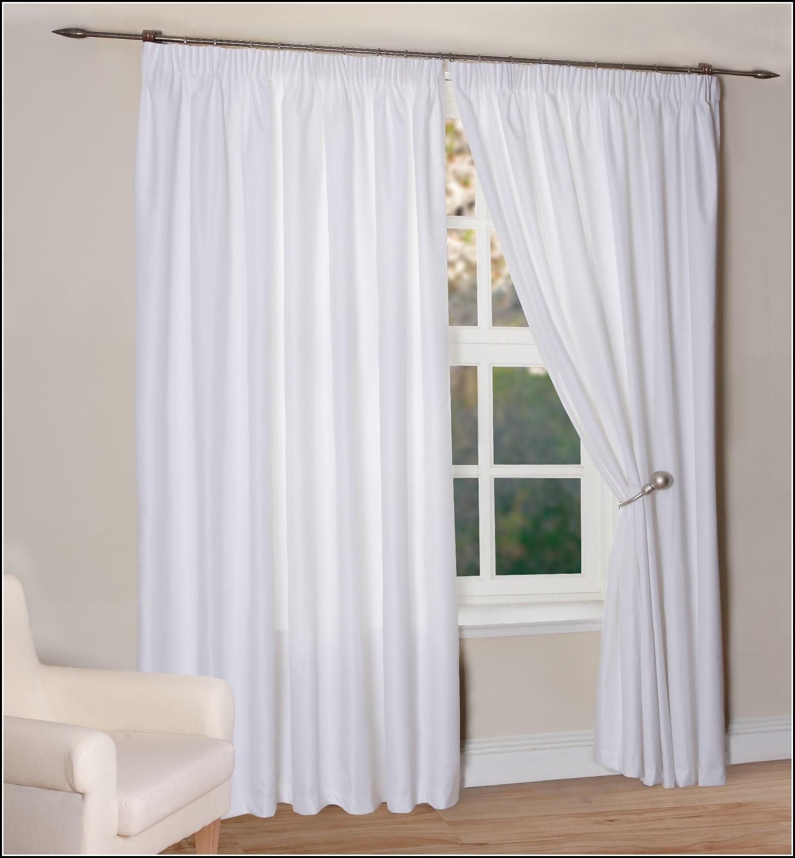 Off White Faux Silk Curtains