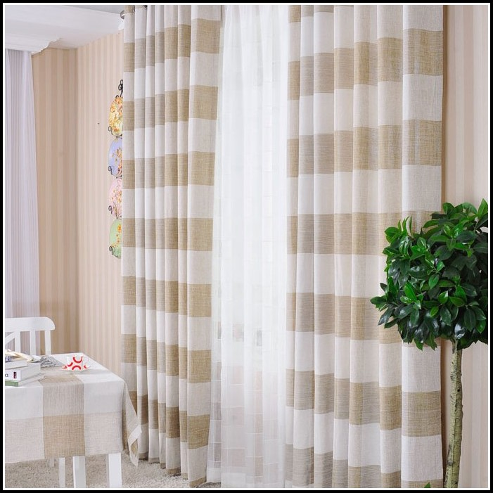 Off White Linen Curtain Panels