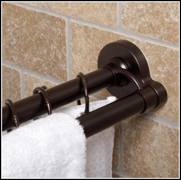 Oil Rubbed Bronze Curtain Rod Set