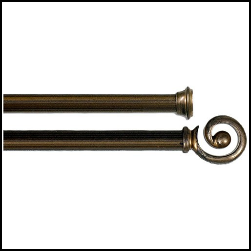 Oil Rubbed Bronze Curtain Rod With Crystal Finial