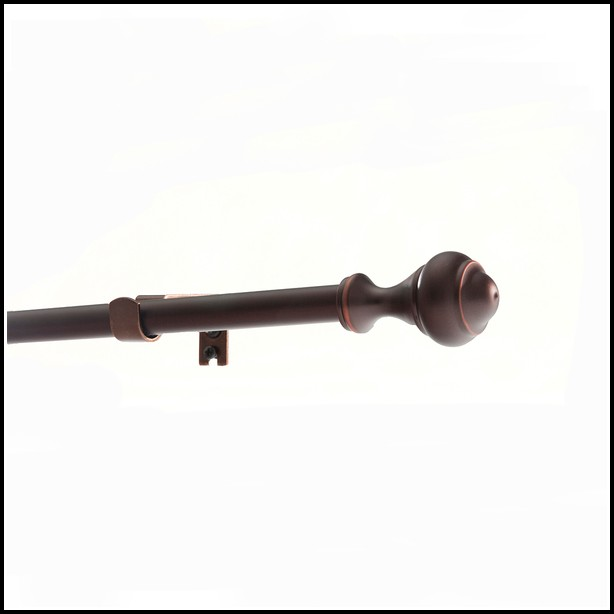 Oil Rubbed Bronze Curtain Rods With Glass Finials