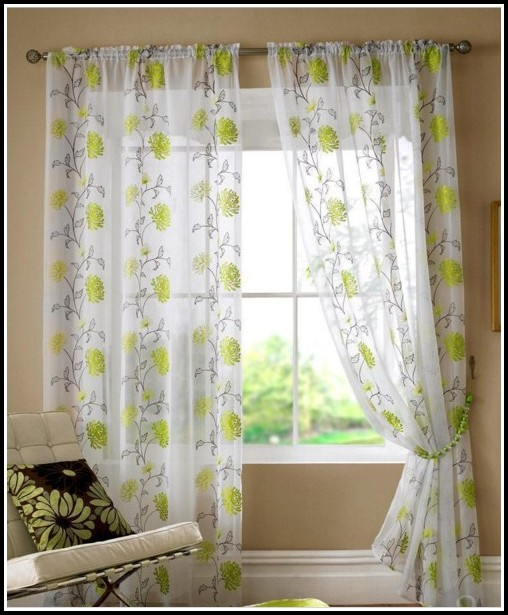 Orange And Lime Green Curtains