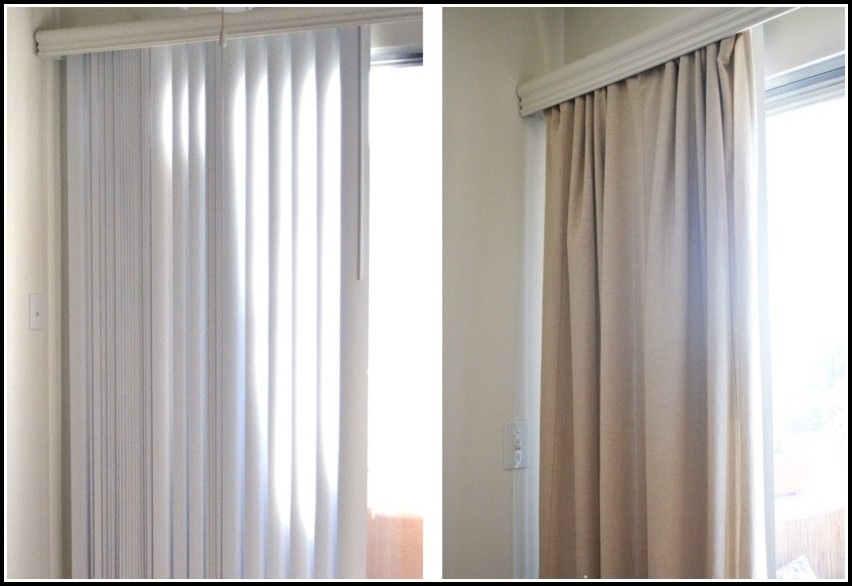 Pictures Of Curtains With Vertical Blinds