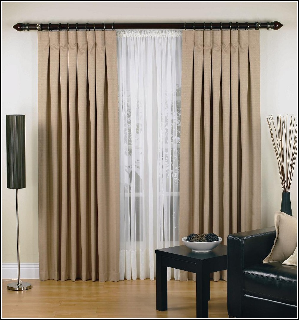 Pinch Pleated Semi Sheer Curtains