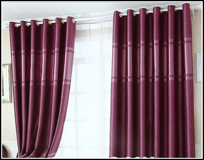 Pink And Purple Butterfly Curtains