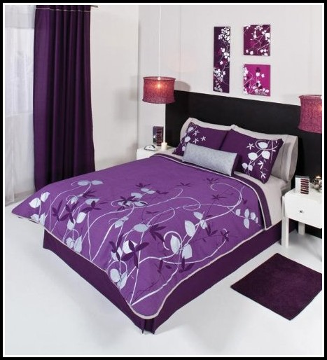 Purple And Black Eyelet Curtains