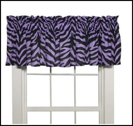 Purple And Black Zebra Curtains