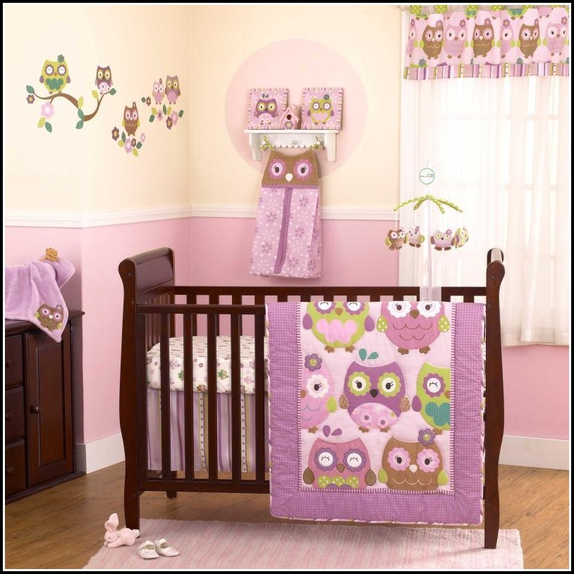 Purple And White Eyelet Curtains