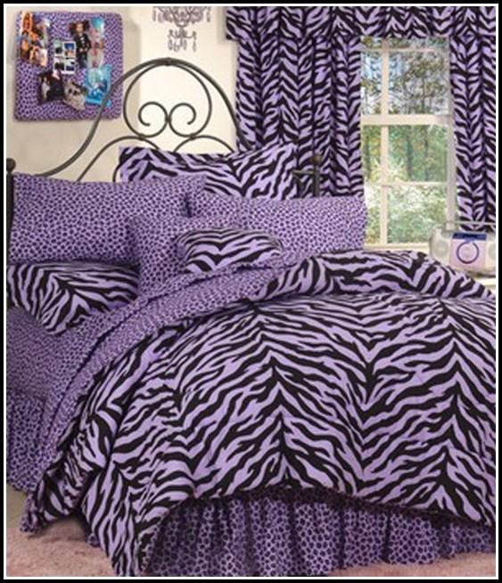 Purple And White Zebra Curtains
