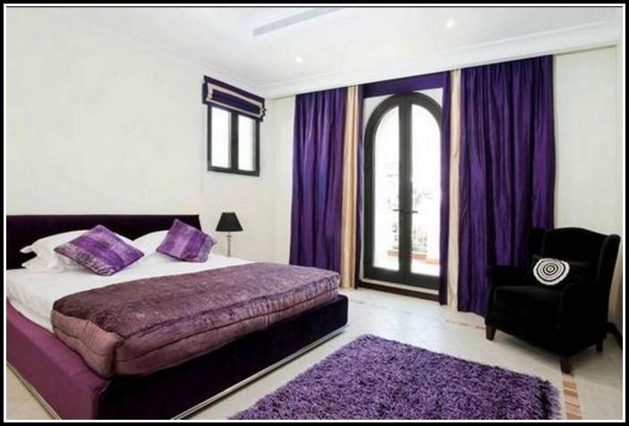 Purple Curtains Bedroom Ideas