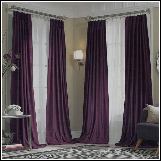 Purple Drapes Or Curtains