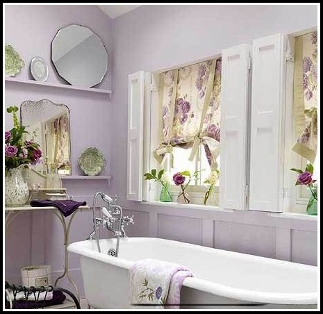 Purple Window Curtains For Bathroom