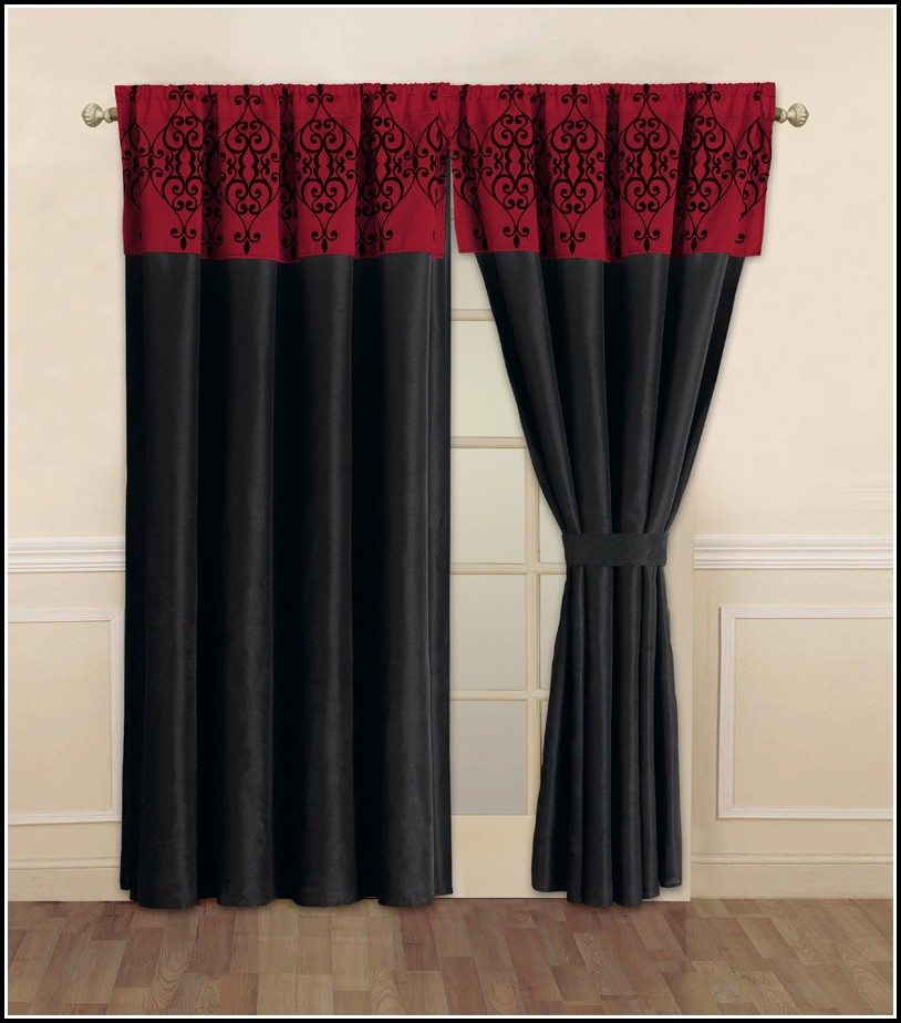Red And Black Curtains Ebay
