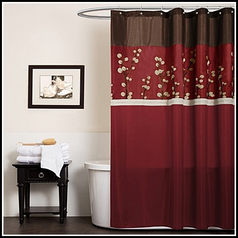 Red And Black Curtains Walmart