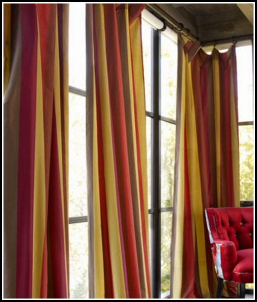 Red And Gold Damask Curtains