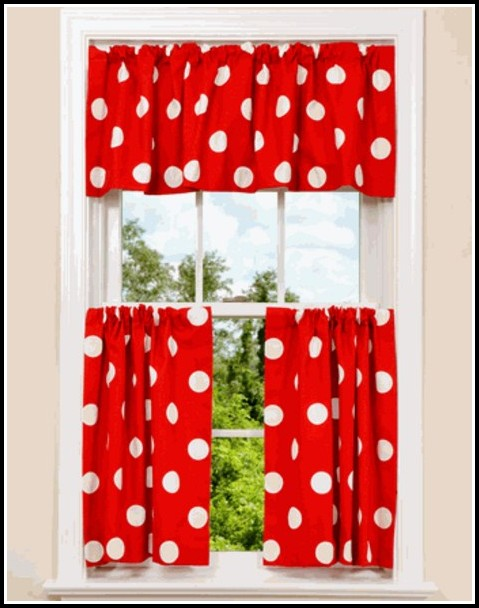 Red And White Curtains Next