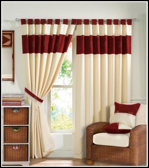 Red And White Living Room Curtains