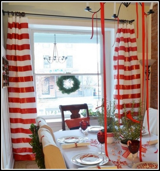 Red And White Striped Curtains Ikea