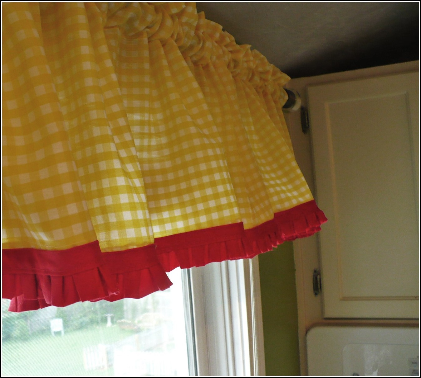 Red And Yellow Kitchen Curtains