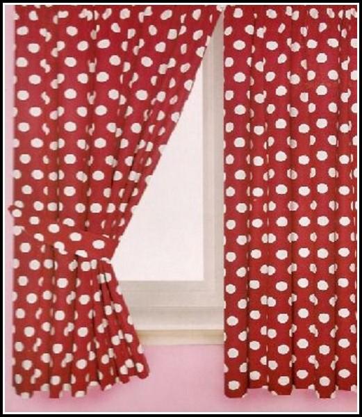 Red Polka Dot Curtain Fabric Uk