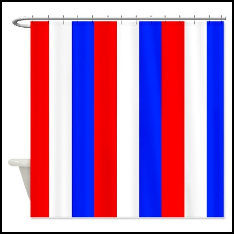Red White And Blue Shower Curtains