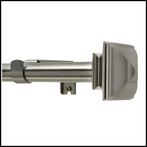Satin Nickel Double Curtain Rod