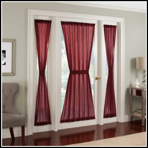 Sheer Voile Rod Pocket Door Panel Curtain