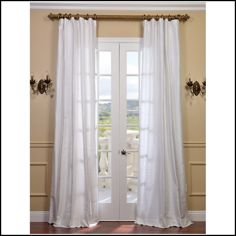 Sheer White Cotton Curtain Panels