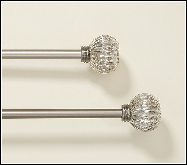 Silver Curtain Rods With Glass Finials