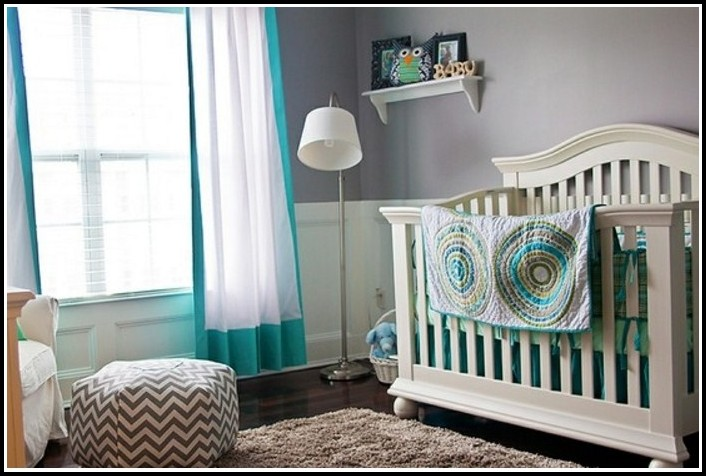 Teal And White Bedroom Curtains