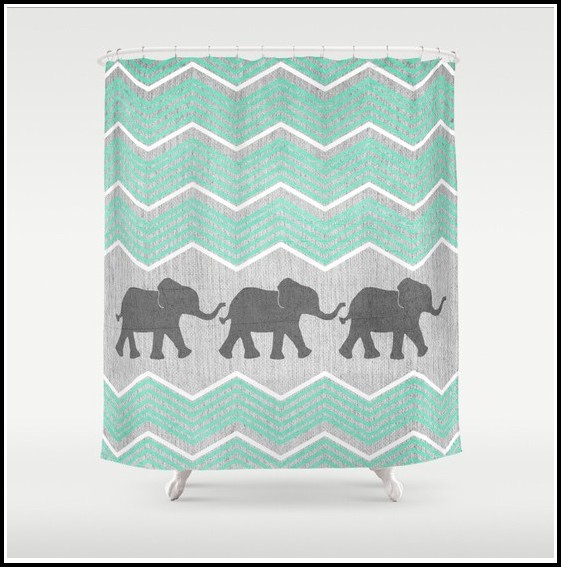 Teal And White Eyelet Curtains