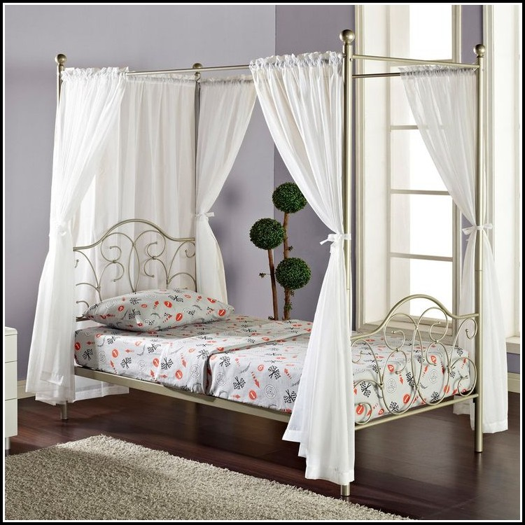 Twin Size Canopy Bed Curtains