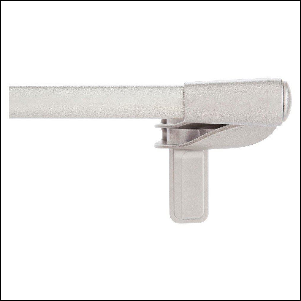 Twist And Fit Curtain Rod White